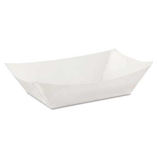 Dixie Kant Leek Polycoated Paper Food Tray  3 Pound  White  250 Pack (DIX KL300W8)