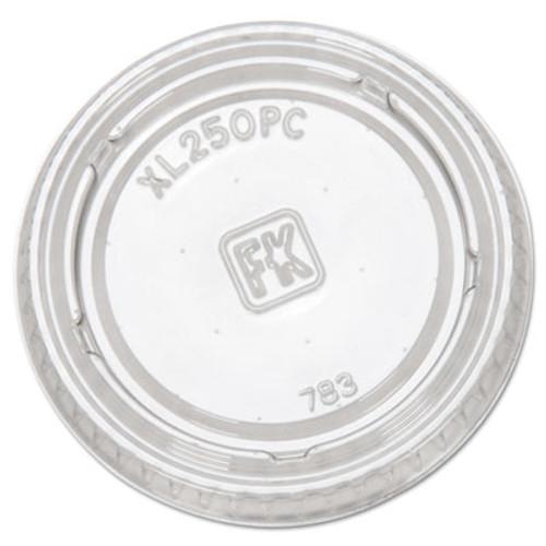 Fabri-Kal Portion Cup Lids  Fits 1 5-2 5oz Cups  Clear (FAB XL250PC)