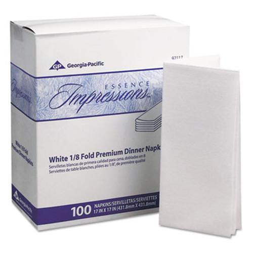 Georgia Pacific Professional Essence Impressions 1 8-Fold Dinner Napkins  Two-Ply  17 x 17  White (GPC 921-17)