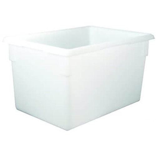 Rubbermaid Commercial Food Tote Boxes  21 5gal  26w x 18d x 15h  White (RCP 3501 WHI)