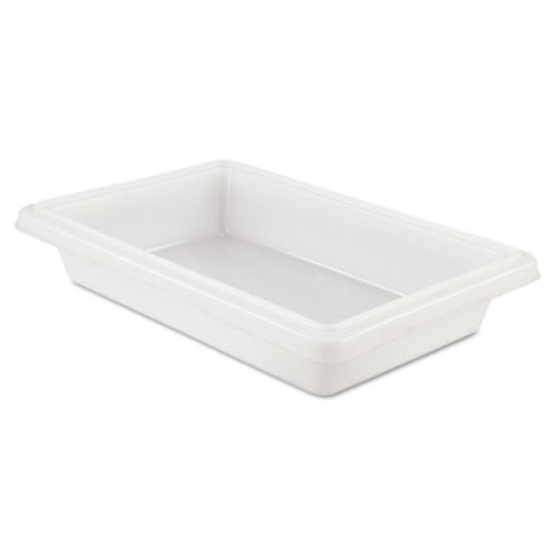 Rubbermaid Commercial Food Tote Boxes  2gal  18w x 12d x 3 1 2h  White (RCP 3507 WHI)