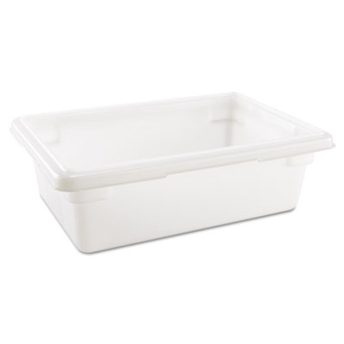 Rubbermaid Commercial Food Tote Boxes  3 5gal  18w x 12d x 6h  White (RCP 3509 WHI)