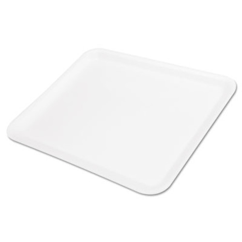 Genpak Supermarket Tray, Foam, White, 11-1/4x9-1/4, 125/Bag (GNP 12SWH)