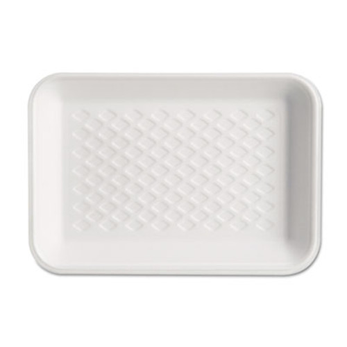 Genpak Supermarket Tray, Foam, White, 8-1/4x5-3/4x1, 125/Bag (GNP W1002)