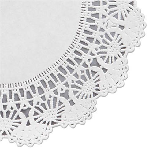 Hoffmaster Cambridge Lace Doilies  Round  8   White  1000 Carton (HFM 500236)