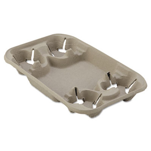 Chinet StrongHolder Molded Fiber Cup Food Tray  8-22oz  Four Cups  250 Carton (HUH FOND)