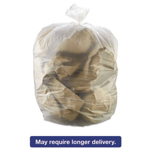 Inteplast Group High-Density Interleaved Commercial Can Liners  55 gal  17 microns  36  x 60   Clear  200 Carton (IBS S366017N)