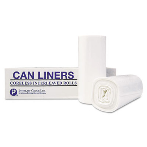 Inteplast Group High-Density Can Liner, 36 x 58, 55-Gallon, 13 Micron Equivalent, Clear, 25/Roll (IBS VALH3660N12)