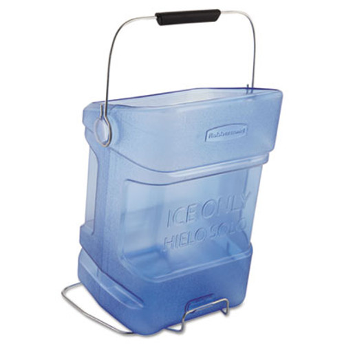 Rubbermaid Commercial Ice Tote  5 5gal  Blue  With Hook Assembly (RCP 9F54 TBL)