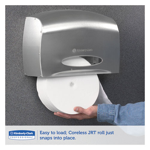 Scott Pro Coreless Jumbo Roll Tissue Dispenser  EZ Load  6x9 8x14 3  Stainless Steel (KCC 09601)