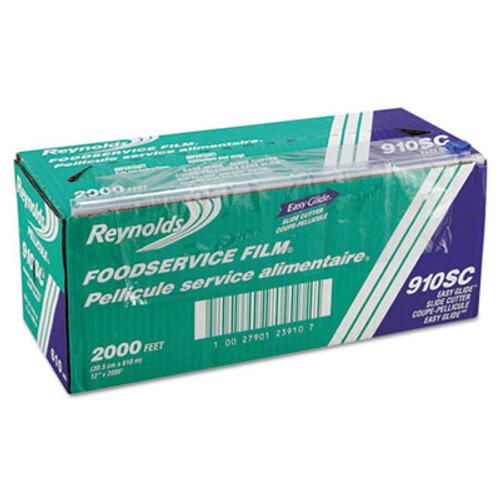 Reynolds Wrap PVC Food Wrap Film Roll in Easy Glide Cutter Box  12  x 2000 ft  Clear (REY 910SC)
