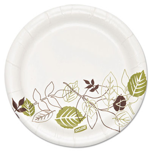 "Dixie Ultra Pathways Soak Proof Shield  Heavyweight Paper Plates, 5 7/8"", 500/Carton (DIX SXP6WS)"