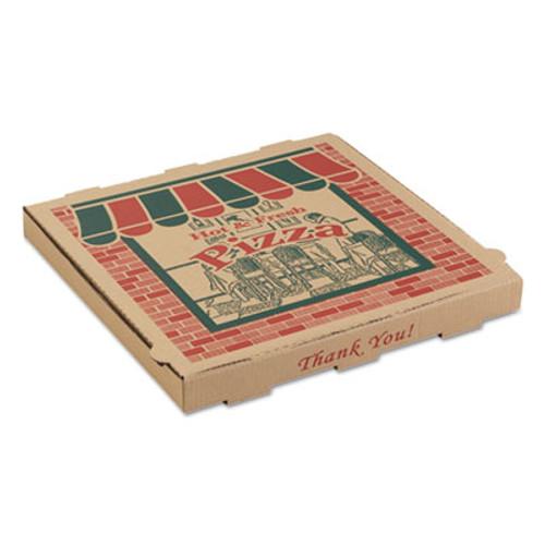 ARVCO Corrugated Pizza Boxes  16 x 16 x 1 3 4  Kraft  50 Carton (ARV9164314)