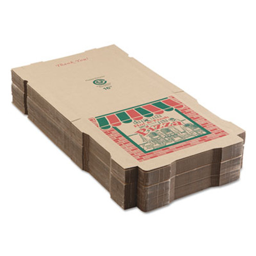 ARVCO Corrugated Pizza Boxes  16 x 16 x 1 3 4  Kraft  50 Carton (ARV9164314)