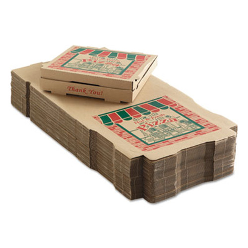 ARVCO Corrugated Pizza Boxes  14 x 14 x 1 3 4  Kraft  50 Carton (ARV9144314)