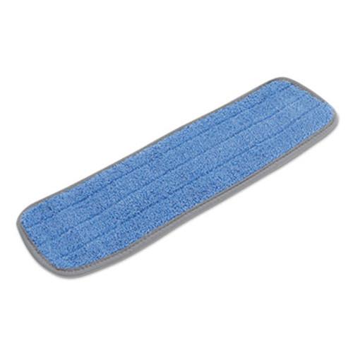 Boardwalk Microfiber Mop Head  Blue  18 x 5  Split Microfiber  Hook   Loop Back  Dozen (UNS MFM185B-CF)