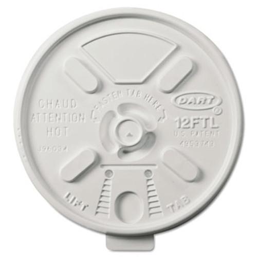 Dart Vented Foam Lids for 10-14 oz Foam Cups  Lift n' Lock Lid (DCC 12FTL)
