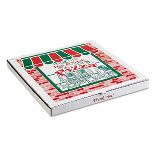 ARVCO Corrugated Pizza Boxes  Kraft White  8 x 8  50 Carton (ARV9084393)