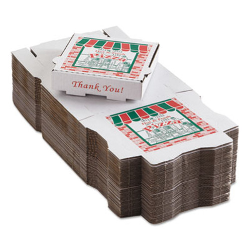 ARVCO Corrugated Pizza Boxes  Kraft White  8 x 8  50 Carton (ARV9084393)