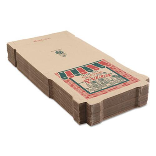 ARVCO Corrugated Pizza Boxes  Kraft  18 x 18  50 Carton (ARV9184314)