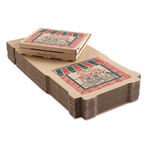 ARVCO Corrugated Pizza Boxes  Kraft  18 x 18  50 Carton (ARV9184314)