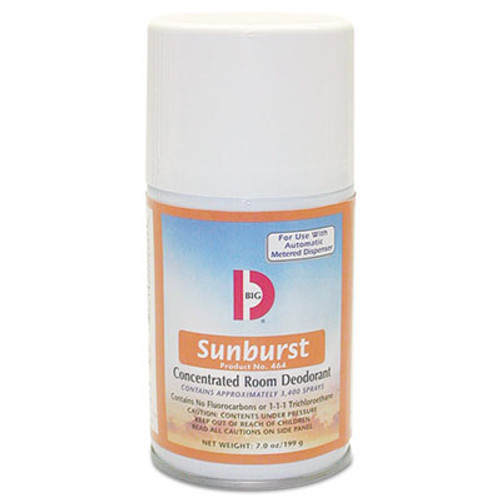 Big D Industries Metered Concentrated Room Deodorant  Sunburst Scent  7 oz Aerosol  12 Carton (BGD 464)