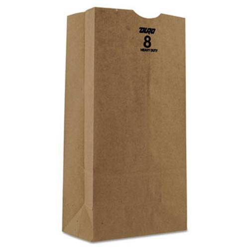 General Grocery Paper Bags  50 lbs Capacity   8  6 13 w x 4 13 d x 12 44 h  Kraft  500 Bags (BAG GH8-500)