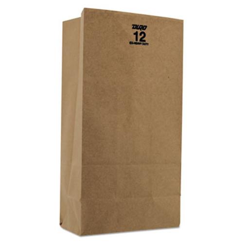 General #12 Paper Grocery, 60lb Kraft, Extra Heavy-Duty 7 1/16x4 1/2 x12 3/4, 500 bags (BAG GX12)
