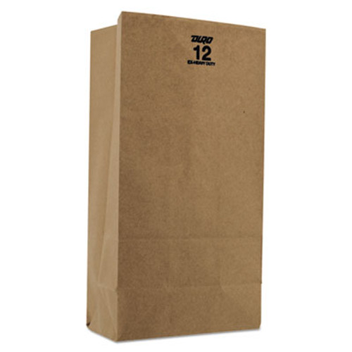 General #12 Paper Grocery, 60lb Kraft, Extra Heavy-Duty 7 1/16x4 1/2 x12 3/4, 500 bags (BAG GX12)