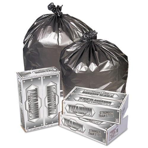 Pitt Plastics Titanium Low-Density Can Liners  45 gal  1 7 mil  39  x 47   Silver  50 Carton (PIT TI3947S)