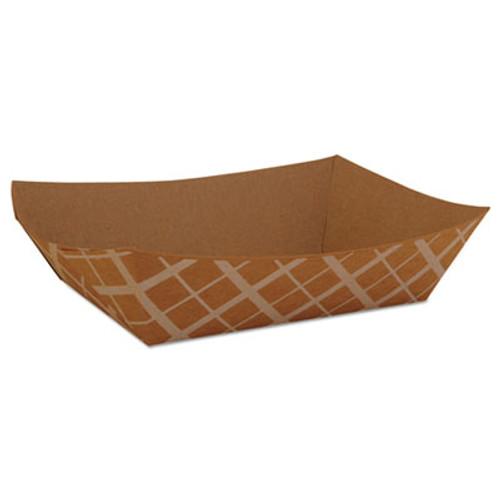 SCT Food Trays  Paperboard  Brown Kraft  3-Lb Capacity  500 Carton (SCH 0525)