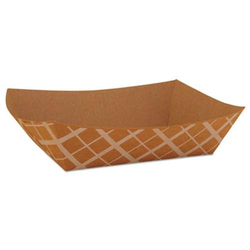 SCT Food Trays  Paperboard  Brown Kraft  5-Lb Capacity  500 Carton (SCH 0529)