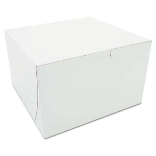 SCT Tuck-Top Bakery Boxes  Paperboard  White  8 x 8 x 5 (SCH 09455)