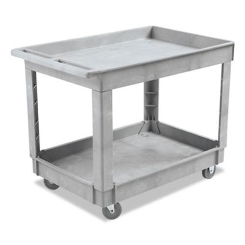 Boardwalk Utility Cart  Two-Shelf  Plastic Resin  24w x 40d  Gray (UNS 4024UC GRA)