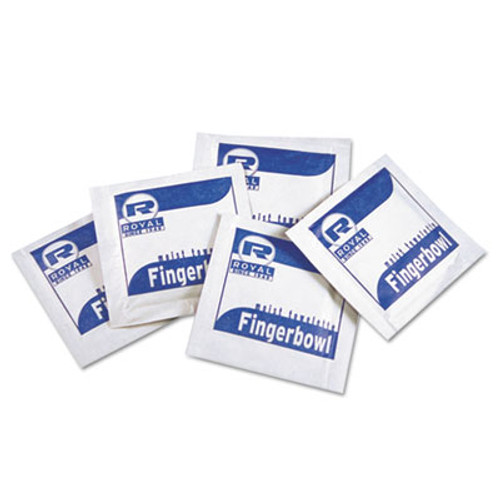 Royal Paper Moist Towelettes, Lemon Scented, Individually Wrapped, 1000/Carton (RPP RF1MB)
