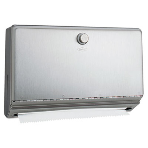 Bobrick Surface-Mounted Paper Towel Dispenser  Stainless Steel  10 3 4 x 4 x 7 1 8 (BOB 2621)