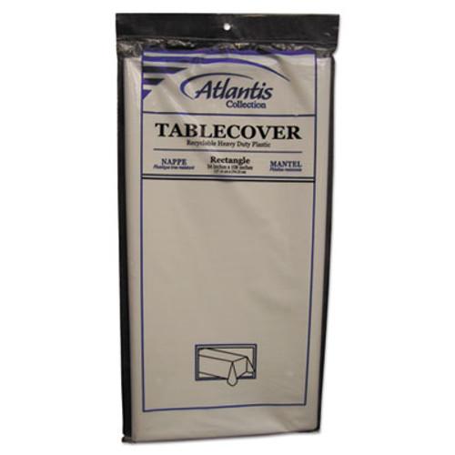 Atlantis Plastics Plastic Table Cover  Rectangular  54 x 108  White  12 Carton (ATL2TCW10812)