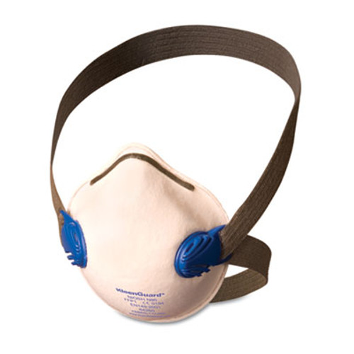 Jackson Safety* R10 Particulate Respirator, N95, White w/Gray Straps, 10/Box (KCC 64260)