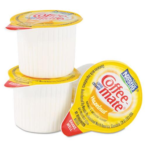 Coffee mate Liquid Coffee Creamer  Hazelnut  0 38 oz Mini Cups  50 Box (NES35180BX)