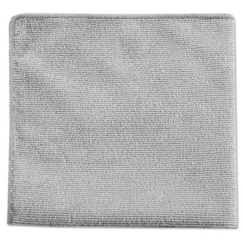 Rubbermaid Commercial Executive Multi-Purpose Microfiber Cloths, Gray, 12 x 12, 24/Pack (RCP 1863888)