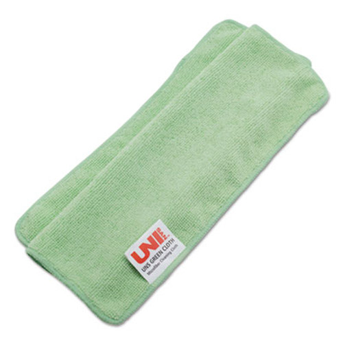 Boardwalk Lightweight Microfiber Cleaning Cloths  Green 16 x 16  24 Pack (UNS 16GREENCLOTH)