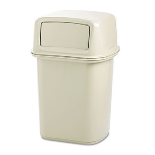 Rubbermaid Commercial Ranger Fire-Safe Container  Square  Structural Foam  45 gal  Beige (RCP 9171-88 BEI)