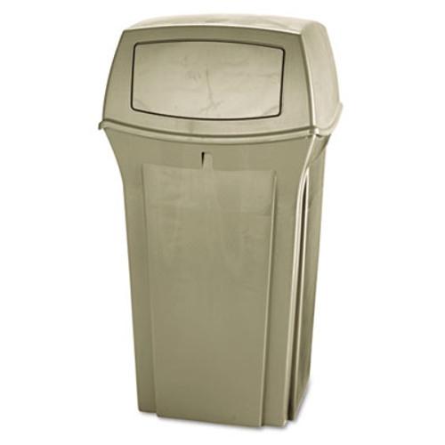 Rubbermaid Commercial Ranger Fire-Safe Container  Square  Structural Foam  35 gal  Beige (RCP 8430-88 BEI)
