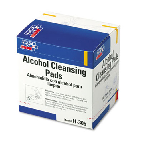 First Aid Only Alcohol Cleansing Pads  Dispenser Box  100 Box (FAOH305)