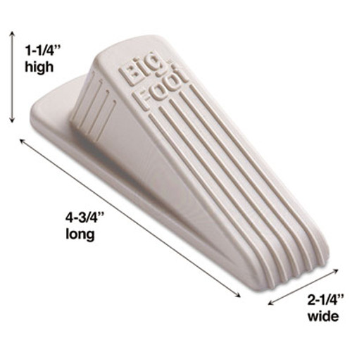 Master Caster Big Foot Doorstop  No Slip Rubber Wedge  2 25w x 4 75d x 1 25h  Beige (MST 00900)