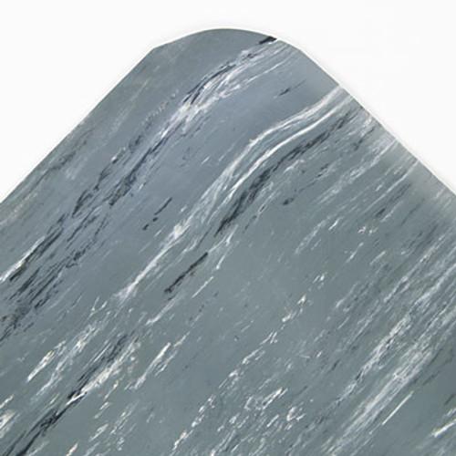 Crown Cushion-Step Surface Mat  36 x 60  Marbleized Rubber  Gray (CRO CU3660S FGR)