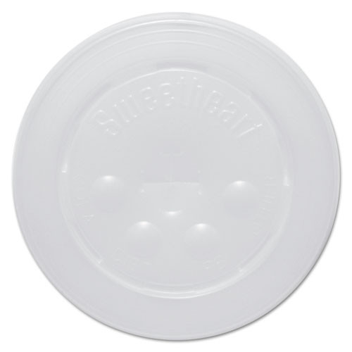 Dart Polystyrene Cold Cup Lids  16-24 oz Cups  Translucent  125 Pack  16 Packs Carton (SCC L16BL)