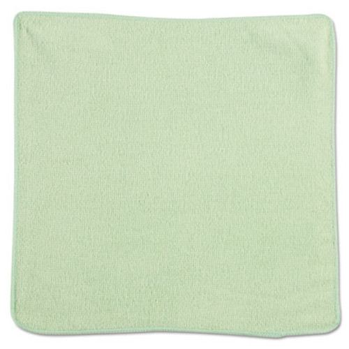 Rubbermaid Commercial Microfiber Cleaning Cloths, 12 x 12, Green, 24/Pack (RCP 1820578)