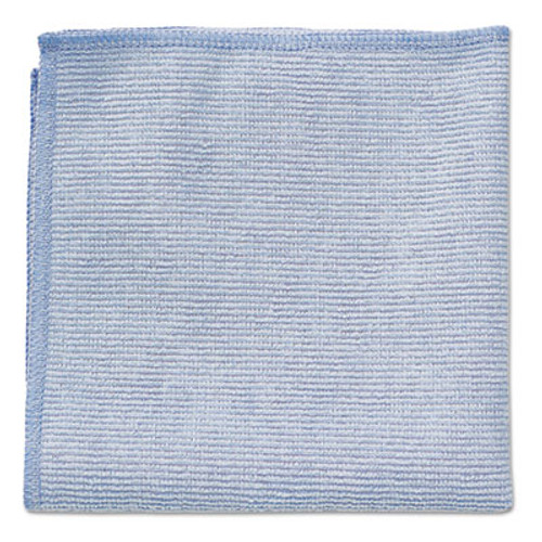 Rubbermaid Commercial Microfiber Cleaning Cloths, 12 x 12, Blue, 24/Pack (RCP 1820579)