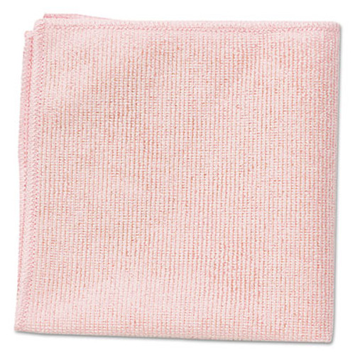 Rubbermaid Commercial Microfiber Cleaning Cloths, 16 x 16, Pink, 24/Pack (RCP 1820581)